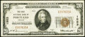 National Bank Notes:Oregon, Portland, OR - $20 1929 Ty. 1 The First Nationa...