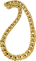 Estate Jewelry:Necklaces, Lester Lampert Gold Necklace. ...