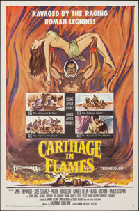 """Carthage in Flames & Other Lot (Columbia, 1961). Folded, Fine/Very Fine. One Sheet (27"""" X 41"""") & Half..."""