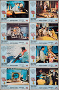 """Movie Posters:Comedy, Hello Down There & Other Lot (Paramount, 1969). Very Fine. Lobby Card Sets of 8 (2 Sets) (11"""" X 14""""). Comedy.. ... (Total: 16 Items)"""