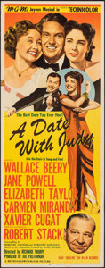 """Movie Posters:Comedy, A Date with Judy (MGM, 1948). Folded, Fine+. Insert (14"""" X 36""""). Comedy.. ..."""
