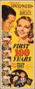 """Movie Posters:Comedy, The First 100 Years (MGM, 1938). Folded, Fine. Insert (14"""" X 36""""). Comedy.. ..."""