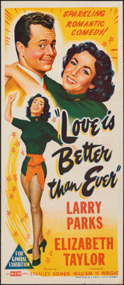 """Love is Better Than Ever & Other Lot (MGM, 1952). Folded, Very Fine. Australian Daybills (2) (Approx. 13.25"""" X..."""