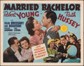 """Movie Posters:Comedy, Married Bachelor & Other Lot (MGM, 1941). Folded, Fine/Very Fine. Half Sheets (2) (22"""" X 28""""). Comedy.. ... (Total: 2 Items)"""