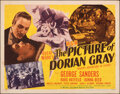 """Movie Posters:Horror, The Picture of Dorian Gray (MGM, 1945). Folded, Fine. Half Sheet (22"""" X 28"""") Style A. Horror.. ..."""