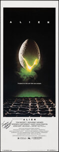 """Movie Posters:Science Fiction, Alien (20th Century Fox, 1979). Rolled, Fine/Very Fine. Autographed Insert (14"""" X 36""""). Science Fiction.. ..."""