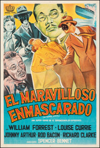 """The Masked Marvel (Imperial, R-1940s). Fine/Very Fine on Linen. Argentinean One Sheet (29"""" X 43""""). Serial"""