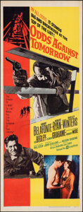 """Movie Posters:Crime, Odds Against Tomorrow (United Artists, 1959). Folded, Very Fine-. Insert (14"""" X 36""""). Crime.. ..."""