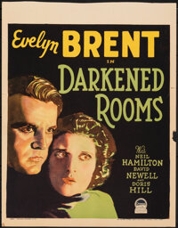 "Darkened Rooms (Paramount, 1929). Fine+. Trimmed Window Card (Approx. 14"" X 18""). Mystery"