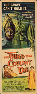 """Movie Posters:Horror, The Thing That Couldn't Die (Universal International, 1958). Folded, Fine. Insert (14"""" X 36"""") Reynold Brown Artwork. Horror...."""