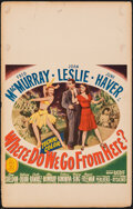 """Movie Posters:Musical, Where Do We Go from Here? (20th Century Fox, 1945). Fine. Window Card (14"""" X 22""""). Musical.. ..."""