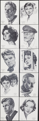 "Academy Awards Portfolio (International Sales Services, 1962). Very Fine+. Art Prints (69) (8.25"" X 10.5) with Orig..."