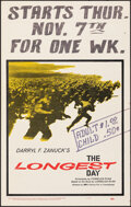 """Movie Posters:War, The Longest Day (20th Century Fox, 1962). Fine+. Window Cards (3) Identical (14"""" X 22""""). War.. ... (Total: 3 Items)"""