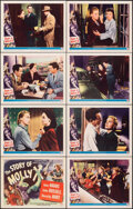 "Movie Posters:Crime, The Story of Molly X (Universal International, 1949). Very Fine+. Lobby Card Set of 8 (11"" X 14""). Crime.. ... (Total: 8 Items)"
