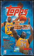 Basketball Cards:Unopened Packs/Display Boxes, 2000-01 Topps Series 1 Basketball Unopened Hobby Box With 36 Packs. ...