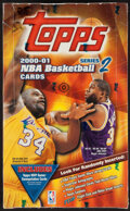 Basketball Cards:Unopened Packs/Display Boxes, 2000-01 Topps Series 2 Basketball Unopened Hobby Box With 36 Packs....