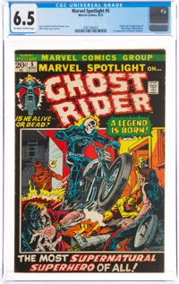 Marvel Spotlight #5 Ghost Rider (Marvel, 1972) CGC FN+ 6.5 Off-white to white pages