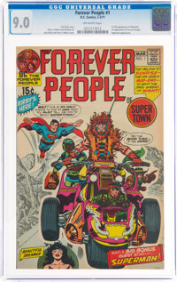 The Forever People #1 (DC, 1971) CGC VF/NM 9.0 Off-white pages