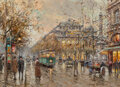 Paintings, Antoine Blanchard (French, 1910-1988). Le Châtelet. Oil on canvas. 13 x 18 inches (33.0 x 45.7 cm). Signed lower right: ...
