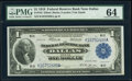 Fr. 742 $1 1918 Federal Reserve Bank Note PMG Choice Uncirculated 64