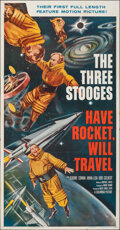 """Movie Posters:Comedy, Have Rocket, Will Travel (Columbia, 1959). Folded, Very Fine-. Three Sheet (41"""" X 78.5""""). Comedy.. ..."""