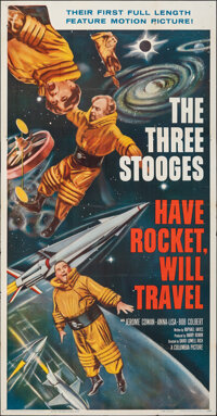 """Have Rocket, Will Travel (Columbia, 1959). Folded, Very Fine-. Three Sheet (41"""" X 78.5""""). Comedy"""