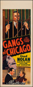 """Movie Posters:Crime, Gangs Of Chicago (Associated Distributors, 1940). Very Fine on Linen. Australian Pre-War Daybill (15"""" X 39.25""""). Crime.. ..."""
