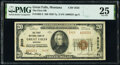 National Bank Notes:Montana, Great Falls, MT - $20 1929 Ty. 2 The First National Bank Ch. # 3525 PMG Very Fine 25.. ...