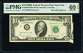Error Notes:Foldovers, Butterfly Fold Error Fr. 2020-B $10 1969B Federal Reserve Note. PMG Extremely Fine 40 EPQ.. ...