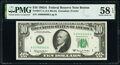 Small Size:Federal Reserve Notes, Near Solid Serial Number 60666666 Fr. 2017-A $10 1963A Federal Reserve Note. PMG Choice About Unc 58 EPQ.. ...