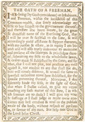 Books:Americana & American History, [Mark Hofmann, forger]. The Oath of a Freeman. Printed broadside comprising a forgery of the first document printed ...