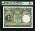World Currency, Ceylon Government of Ceylon 100 Rupees 24.6.1945 Pick 38a PMG Choice Uncirculated 64.. ...