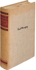 Books:Literature 1900-up, Ernest Hemingway. For Whom the Bell Tolls. New York: Charles Scribner's Sons, 1940. First edition, one of 15 advance...