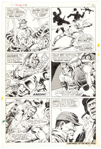 Dick Ayers and John Severin Sgt. Fury #56 Story Page 18 Original Art (Marvel, 1968)