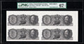 World Currency, China Central Bank of China 20 Cents 1946 Pick 395As S/M#C302 Uncut Sheet of 4 Specimen PMG Superb Gem Unc 67 EPQ.. ...