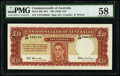 Australia Commonwealth Bank of Australia 10 Pounds ND (1952) Pick 28d R61 PMG Choice About Unc 58