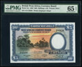 World Currency, British West Africa West African Currency Board 100 Shillings = 5 Pounds 26.4.1954 Pick 11a PMG Gem Uncirculated 65 EPQ....
