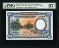World Currency, British West Africa West African Currency Board 100 Shillings = 5 Pounds 26.4.1954 Pick 11b PMG Superb Gem Unc 67 EPQ.. ...