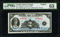 World Currency, Canada Bank of Canada $2 1935 BC-3 English Text PMG Choice Uncirculated 63.. ...