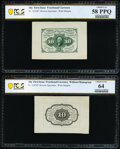 Fractional Currency:First Issue, Fr. 1243SP 10¢ First Issue Wide Margin Pair PCGS Banknote Choice Unc 64 and Choice AU 58 PPQ.. ... (Total: 2 notes)