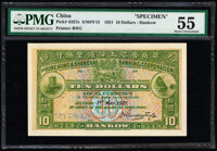 China Hongkong & Shanghai Banking Corporation, Hankow 10 Dollars 1.5.1921 Pick S337s S/M#Y13 Specimen PMG About Unci...