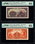 World Currency, China People's Bank of China 200; 500 Yuan 1949 Pick 838s; 842s Two Specimen PMG Choice Uncirculated 64; Choice Uncirc... (Total: 2 notes)