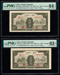 World Currency, China People's Bank of China 5000 Yuan 1949 Pick 852a S/M#C282-64 Two Consecutive Examples PMG Choice Uncirculated 64 EPQ;... (Total: 2 notes)