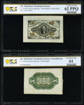 Fractional Currency:Third Issue, Fr. 1251SP/1255SP 10¢ Third Issue Wide Margin Pair PCGS Banknote Uncirculated 62 PPQ and 61 Uncirculated.. ... (Total: 2 notes)