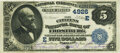 National Bank Notes:Maryland, Frostburg, MD - $5 1882 Date Back Fr. 533a The Citizens National Bank Ch. # 4926 PMG Very Fine 30.. ...