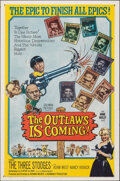 """Movie Posters:Comedy, The Outlaws is Coming (Columbia, 1965). Folded, Fine/Very Fine. One Sheet (27"""" X 41""""). Comedy.. ..."""