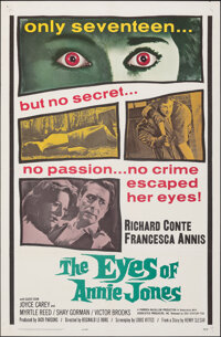 "The Eyes of Annie Jones & Other Lot (20th Century Fox, 1964). Folded, Very Fine-. One Sheets (2) (27"" X 41""..."
