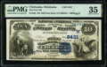 National Bank Notes:Oklahoma, Chickasha, OK - $10 1882 Date Back Fr. 546 The First National Bank Ch. # (W)5431 PMG Choice Very Fine 35.. ...