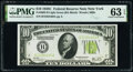 Fr. 2003-B $10 1928C Federal Reserve Notes. Two Consecutive Examples. PMG Choice Uncirculated 63 EPQ. ... (Total: 2 note...