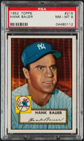 Baseball Cards:Singles (1950-1959), 1952 Topps Hank Bauer #215 PSA NM-MT 8. This '52 T...